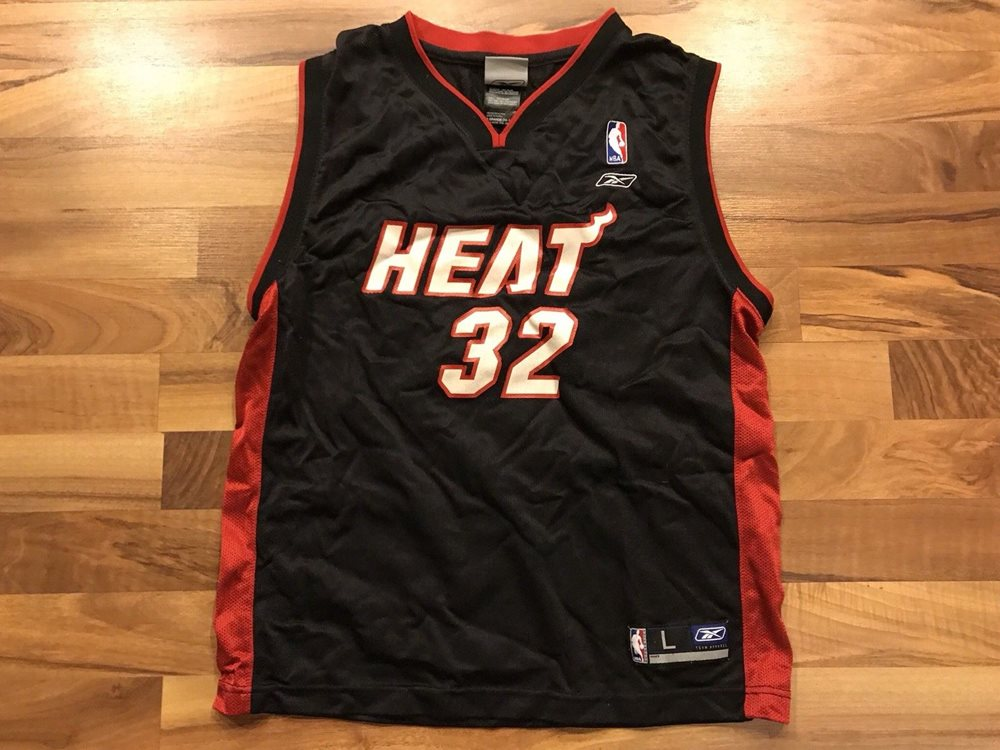 half off 3ba55 e3cec Throwback Shaquille O'Neal Miami Heat #32 Jersey Youth Large 14-16 NBA Shaq
