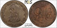 1787 Anglesey Penny Token, D&H 11, First production strike of series- PCGS*