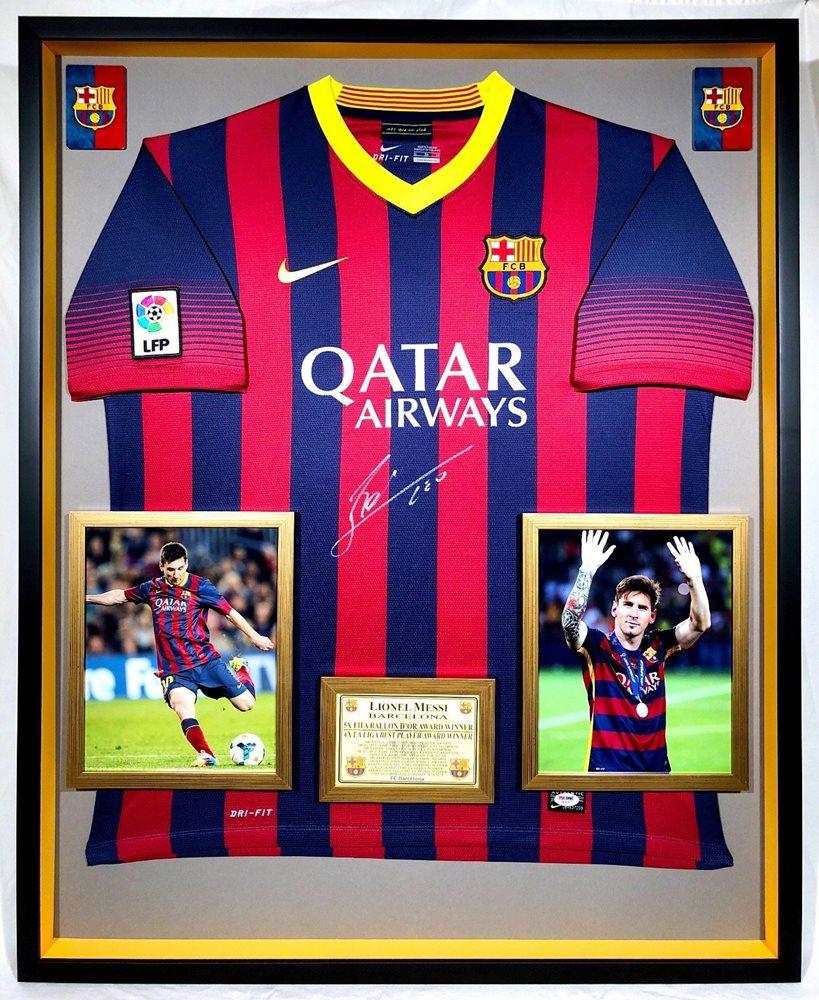 17cca20180c Premium Framed Lionel Messi Autographed   Signed Barcel