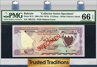 1/2 Dinar 1964 Bahrain Specimen Pmg 66 Epq Gem Uncirculated!