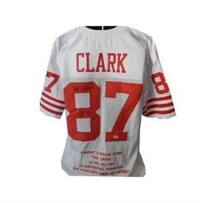 outlet store a25b7 af7c5 Dwight Clark Autographed