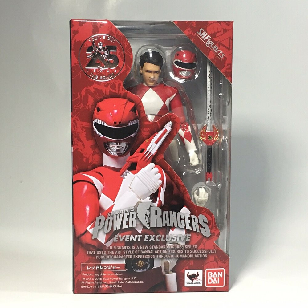 Mighty Morphin Red /& Green Power Rangers set SDCC 2018 Tamashii Exclusive Bandai