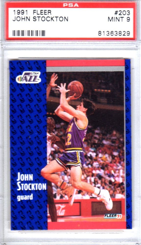 auction prices realized basketball cards 1991 fleer john