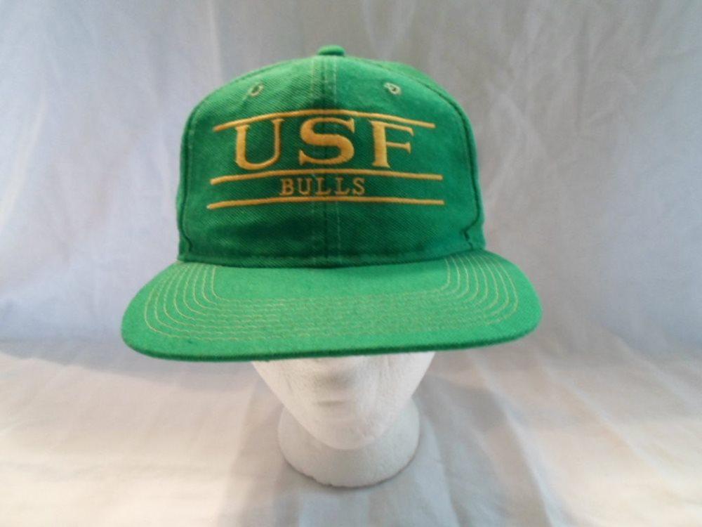 sale retailer 3610b a28e9 ... switzerland vintage usf south florida bulls baseball cap hat snapba  0f518 d6f39
