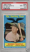 1959 Topps All-Star #564 Mickey Mantle PSA 8 NM-Mint O/C