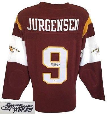 Signed Sonny Jurgensen Jersey - Reebok Longsleeve HOF 83 JSA - Autographed NFL Jerseys