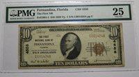 $10 1929 Fernandina Florida FL National Currency Bank Note Bill Ch. #4558 VF25!