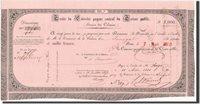 1000 Francs Senegal Banknote, 7 5 1853