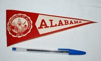 Vintage 1940s University of Alabama Steamer Trunk Decal College