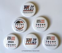 Donald Trump and Mike Pence Re-Election 2020 Presidential Campaign Button Set of 6 (TRUMPPENCE-701-ALL)