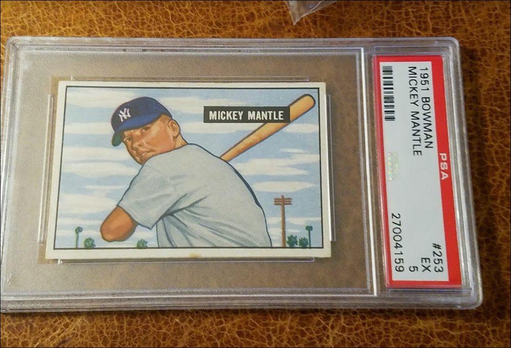 Mickey Mantle 1951 Bowman True Rookie Card 253 Psa 5 Nq