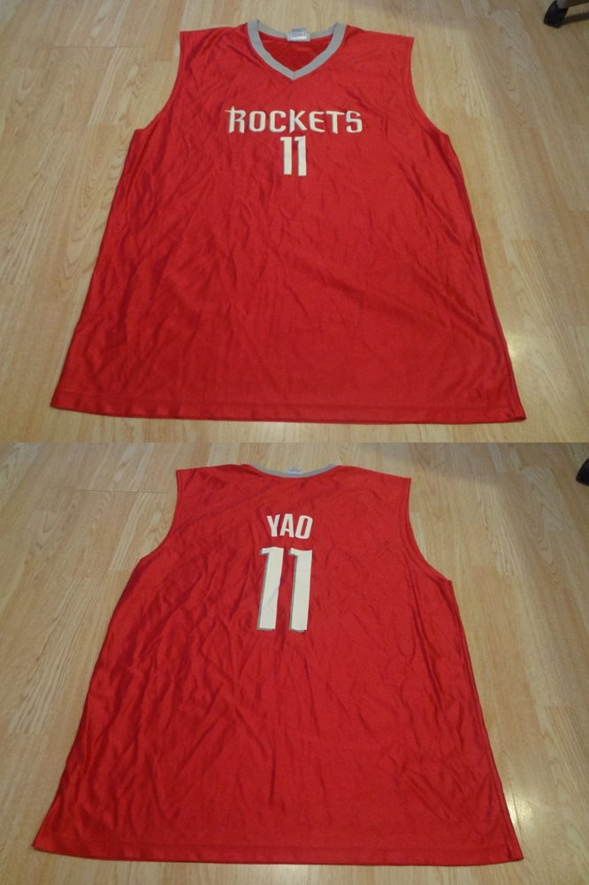 new style 5b644 ce532 Men's Houston Rockets Yao Ming XL NBA Jersey (Red) Jersey