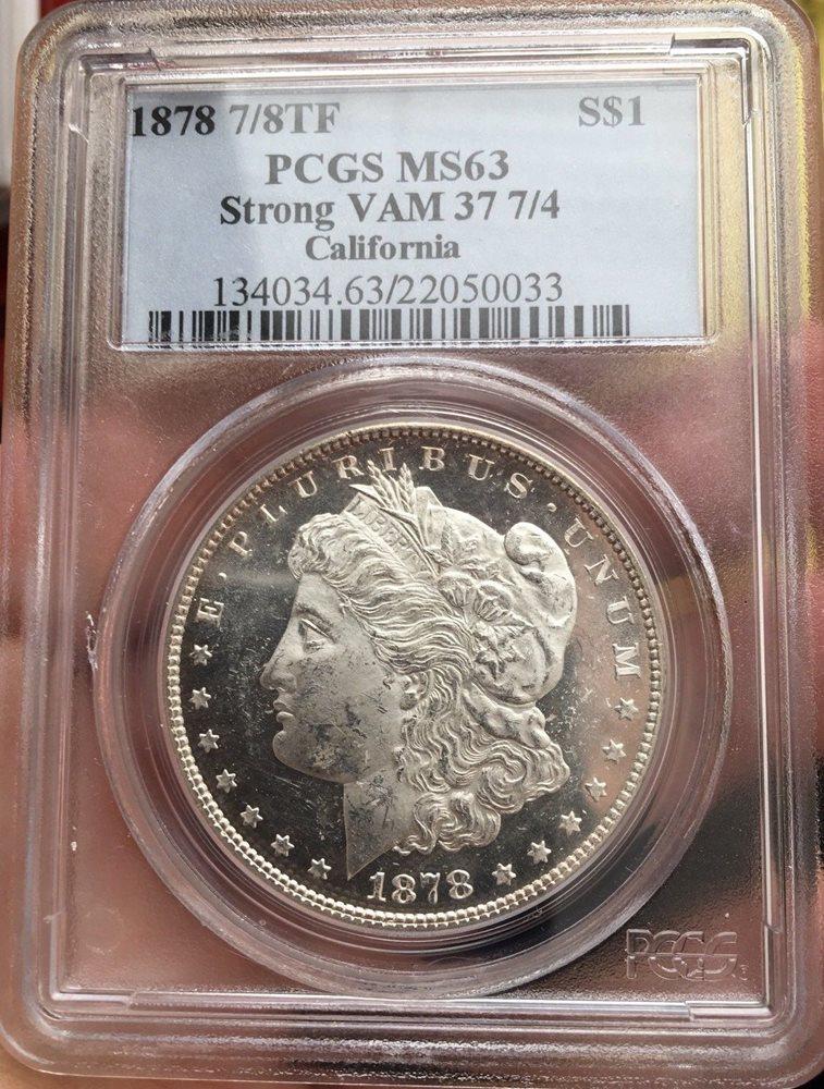 1878-P 7//8TF Morgan Silver Dollar Brilliant Uncirculated BU