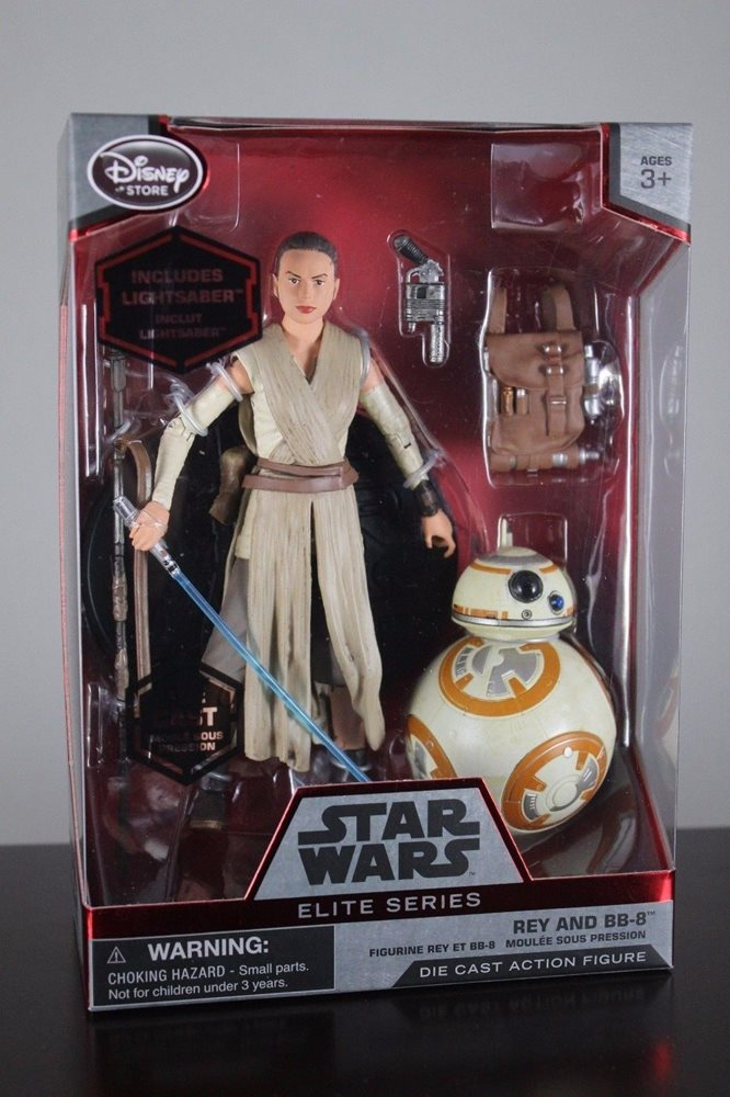 Disney Star Wars Force Awakens Elite Series Jedi Rey /& BB-8 Lightsaber Die Cast