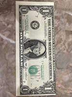 1985 1$ FEDERAL RESERVE NOTE MISALIGNED PRINTING & Shifted Seal (Error Note)