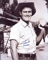 Chuck Connors (D.) Autographed/ Original Signed 8x10 Sepia Photo Showing Him As The RIFLEMAN - Connors Also Played for the Brooklyn Dodgers in 1949 and the Chicago Cubs in 1951