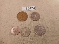 Lot - Five World Coins Mixed Dates Countries Denominations Free SH - # 152474