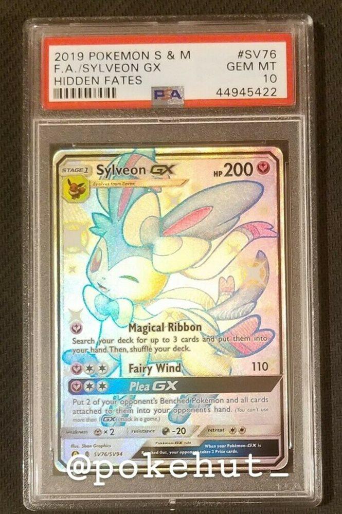 Sylveon GX SV76//SV94 Hidden Fates Shiny Vault Rare Pokemon Card NM
