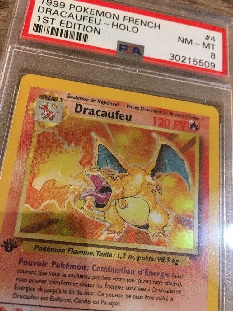 Pokemon French Charizard Dracaufeu 1st Edition Holo PSA 8