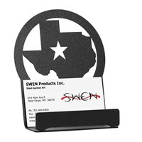 SWEN Products STATE of TEXAS STAR Black Metal Business Card Holder
