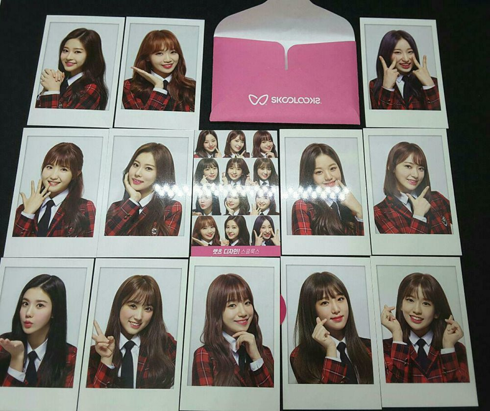 IZ*ONE IZONE SKOOLOOKS Official photocard 13 complete Set photo card