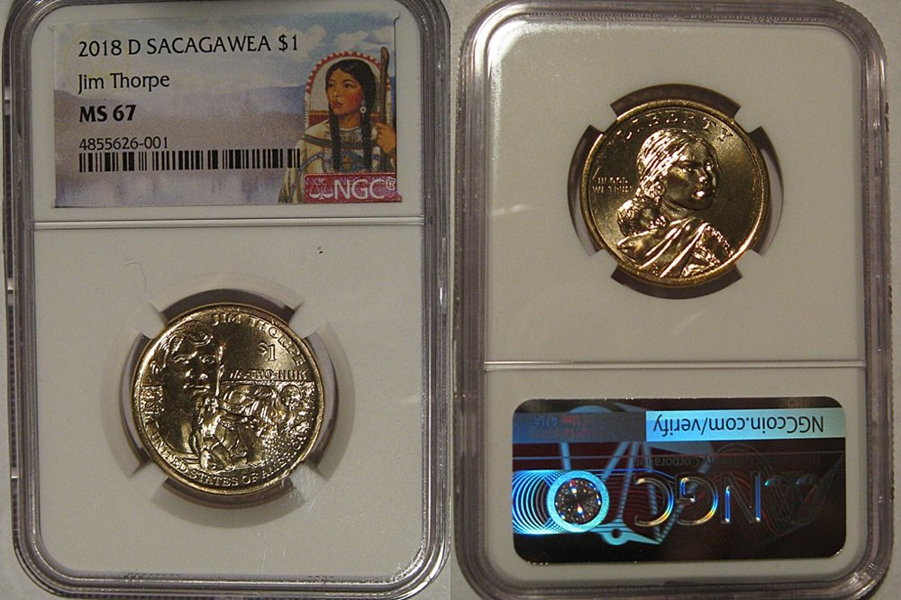 2017-D Sacagawea Dollar MS67 PCGS First Strike Mint State 67 Position A