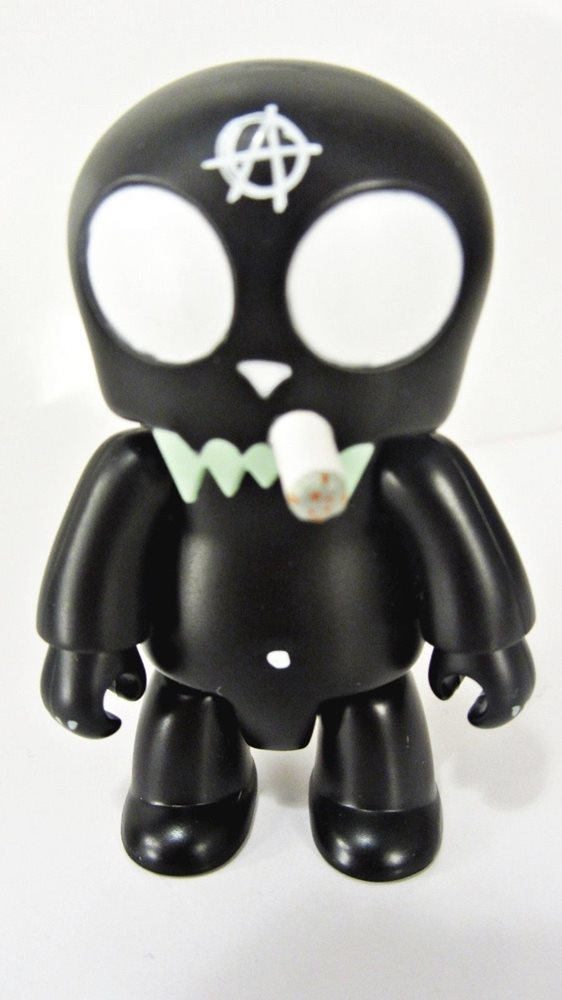 "BLACK CAT Smoking ANARQEE Frank Kozik 2.5/"" figure Smash The State keychain"