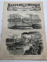 1863 Harpers Antique Print Views Of The Canal At Vicksburg Mississippi #101020