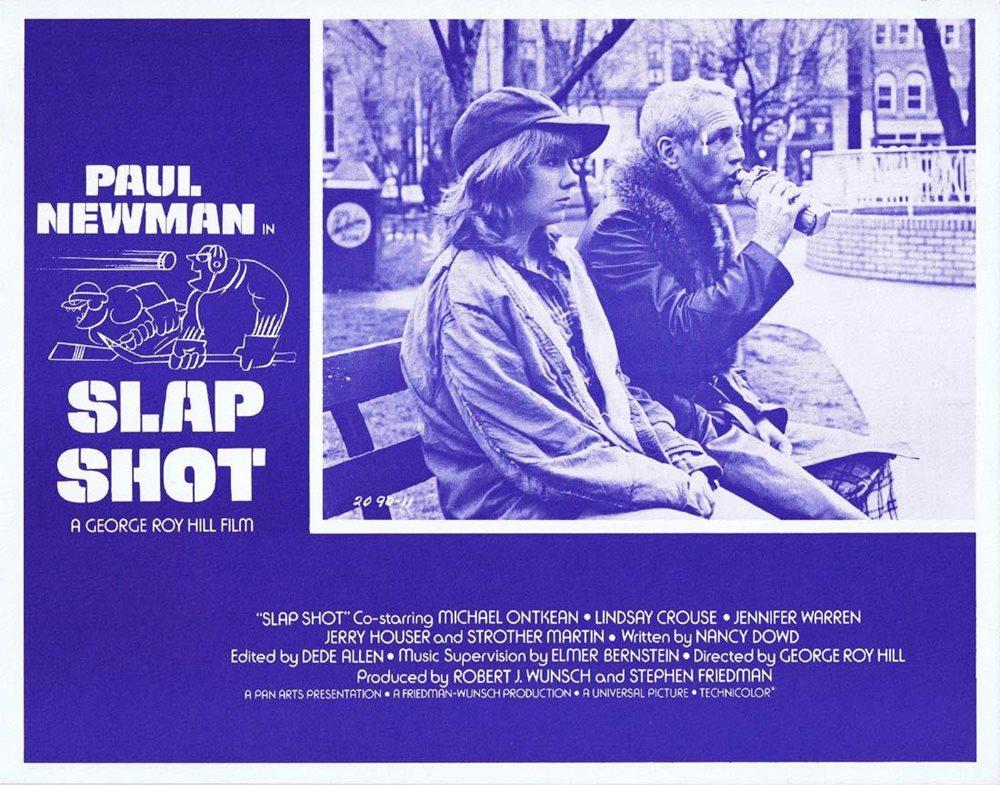 Slap Shot Original Lobby Card 3 Paul Newman Ice Hockey