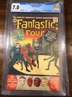Fantastic Four # 11 - CGC 7.0- Origin & First Impossible Man