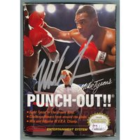 Mike Tyson Signed Autographed NES Nintendo PUNCH-OUT Video Game BOX ONLY JSA Authentic