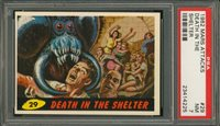 """1962 Mars Attack #29 DEATH IN THE SHELTER PSA 7 NM """"""""1962 Mars Attack #29 DEATH IN THE SHELTER PSA 7 NM """""""""""
