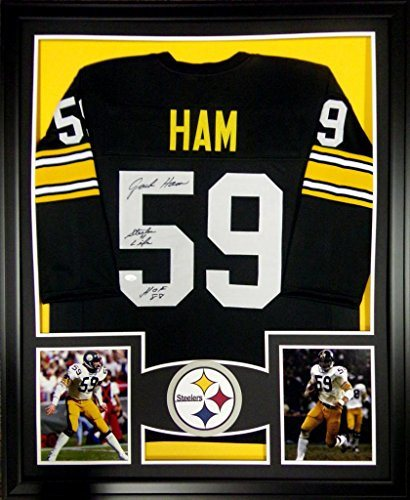 new style 29be9 639ea Jack Ham Framed Jersey Signed JSA COA Autographed Pittsburgh Steelers Penn  State