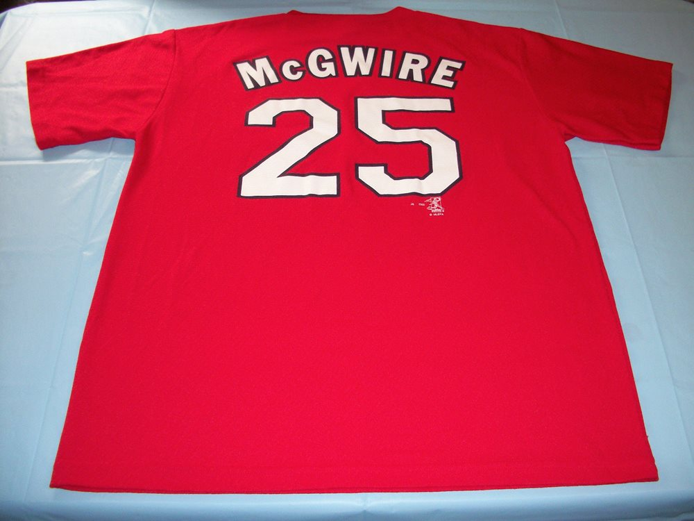 detailed look 44638 799c6 Vintage MARK McGWIRE #25 St. Louis Cardinals Jersey XL Extra Large Sport  Attack