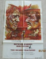 THE DEADLY TRACKERS ORIGINAL FOLDED MOVIE POSTER 1973 RICHARD HARRIS ROD TAYLOR