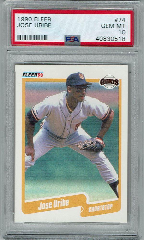 Ebay Auction Item 323274584174 Baseball Cards 1990 Fleer