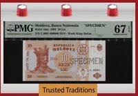 10 Lei 1994 Moldova King Stefan Specimen Pmg 67 Epq The Only 1 Graded