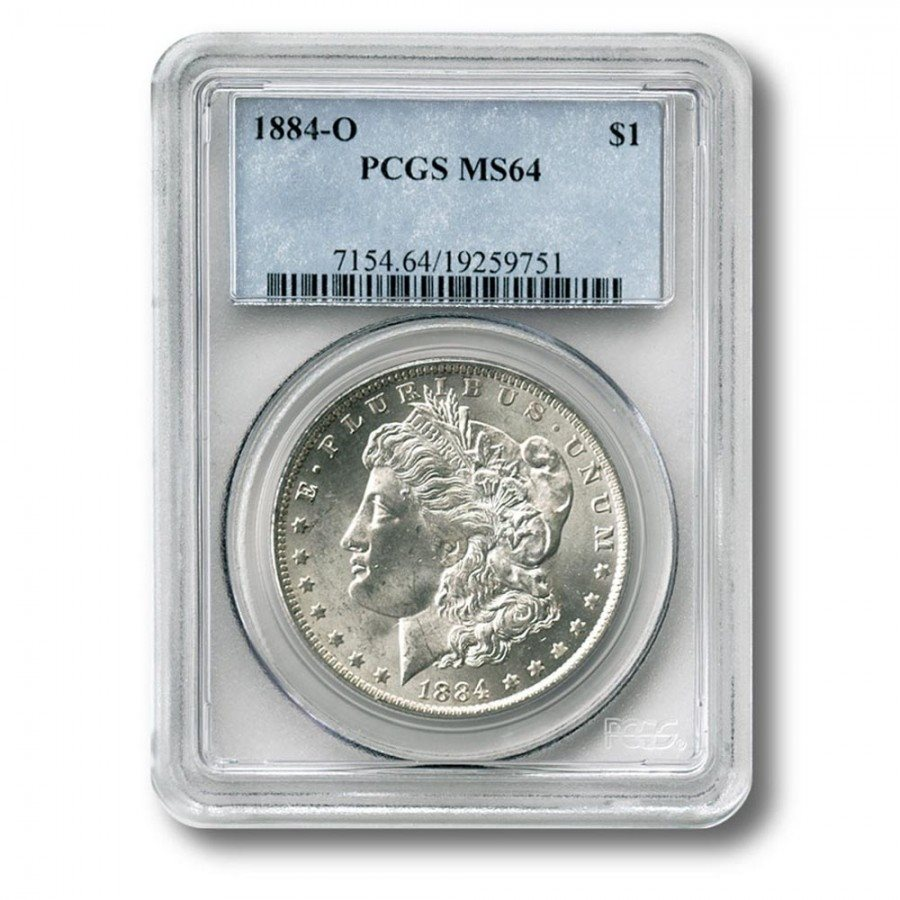 1883 US Morgan Silver Dollar $1 PCGS MS64