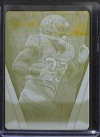 2012 Topps Supreme Football Yellow Printing Plate #30 Arian Foster No 1 of 1