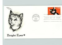 CAT on Bright Eyes First Day of Issue, 1998 cancelled Boston, MA