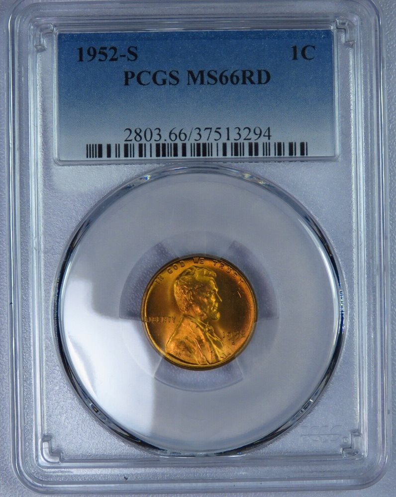 PCGS CAC 1952-P Lincoln Cent MS66RD