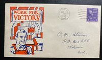 1944 Presque Isle ME USA Patriotic Cover To Kokomo IN Work For Victory