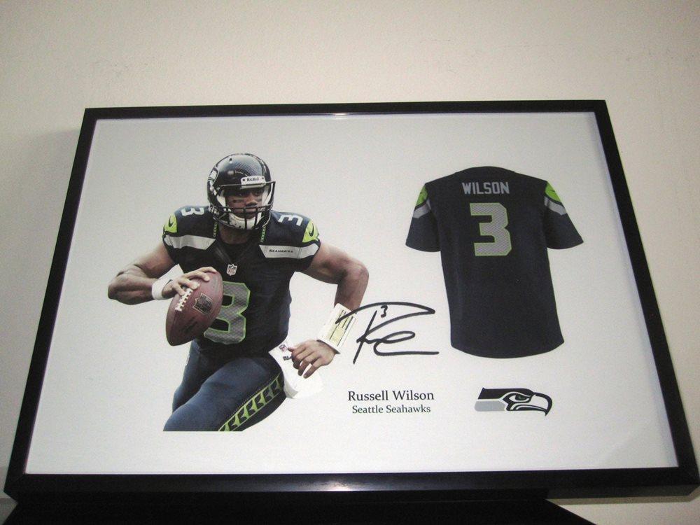 size 40 6da34 ddec4 Russell Wilson signed Seattle Seahawks NFL - Football Jersey - RP autograph