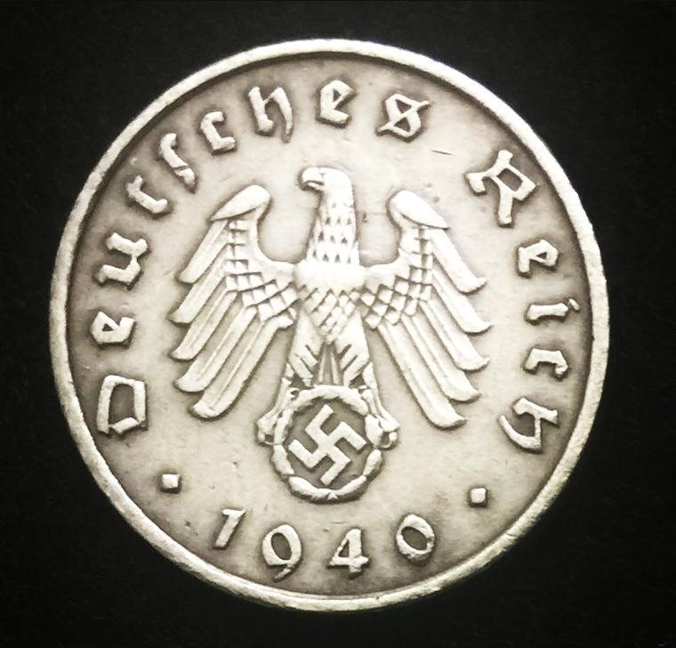 Artifact German Rare Antique 10 Pf Coin with Big EAGLE Authentic WW2