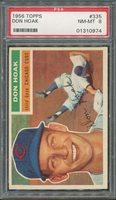 1956 Topps #335 Don Hoak PSA NM-MT 8 *0974