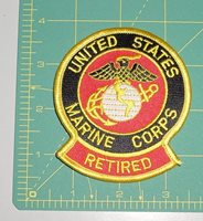 Embroidered Patch - United States Marine Corps with Logo - Retired