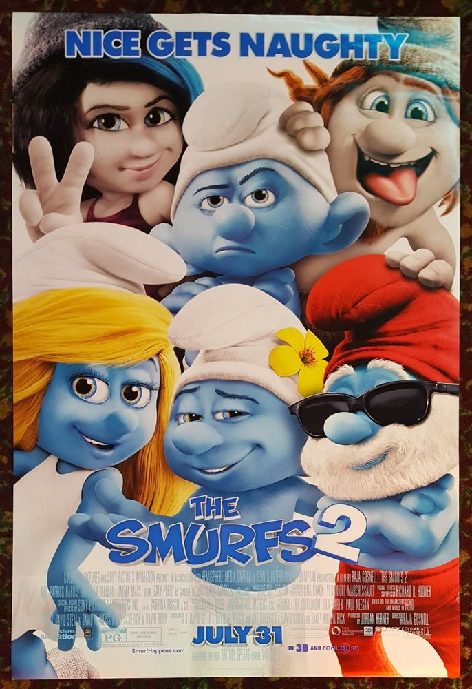 The Smurfs 2 2013 Orig Movie Poster 27x40 Ds Authenti