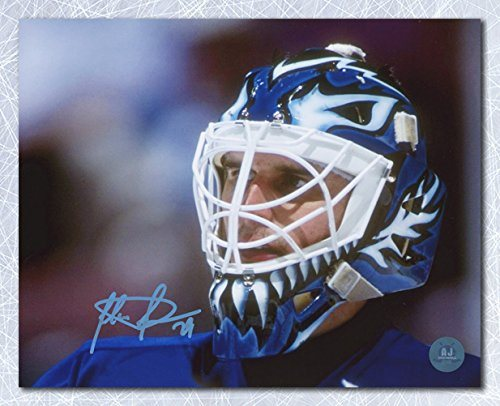 cheap for discount 34b02 6d758 Felix Potvin Toronto Maple Leafs Autographed The Cat Mask Close Up 8x10  Photo