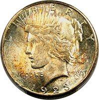 1923 S Peace Dollars Dollar MS65 PCGS