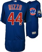 16f117603ca Anthony Rizzo Chicago Cubs 2016 MLB World Series Champions Autographed  Majestic Blue Authentic World Series Jersey